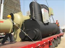 大型中央空调设备地下室吊装搬运就位