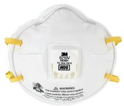 3M 8210V N95带阀颗粒物防护口罩 70071606589