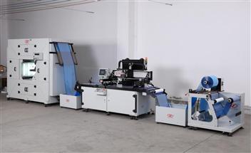 服裝轉印膜嘜頭全自動絲網印刷機