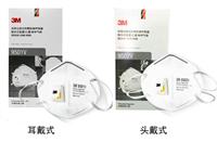 3M 9501V 9502V防塵口罩折疊騎行帶呼吸閥防霧霾防工業粉塵透氣PM2.5