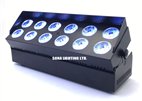 new 12*18w IR Remote (mobile app) battery power & wireless dmx par