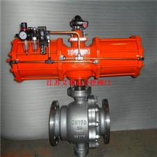 不锈钢气动固定法兰球阀Q647F-40P