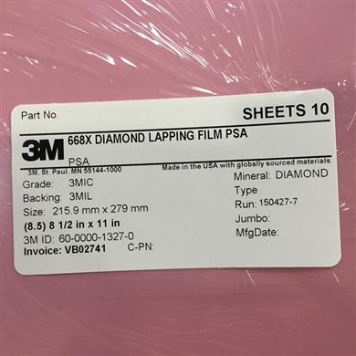 3M 668X钻石研磨砂纸8.5