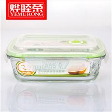 烨睦荣保鲜盒BXH102(1050ml)高硼硅耐热玻璃保鲜碗