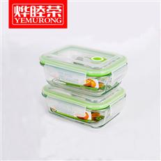 烨睦荣保鲜盒BXH101(650ml)两件套玻璃保鲜碗