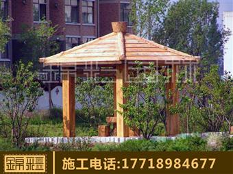 海南仿木欄桿施工 仿木花架水泥仿真石假樹涼亭花架仿木紋木屋制作