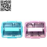 304塑钢方形深餐盒(Stainless steel snack plate)ZD-KCP37