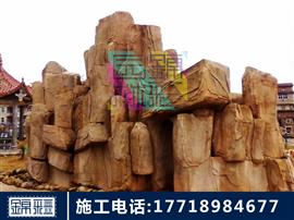 河南塑石假山水泥假山施工 大型人造假山護坡假山卡通雕塑假樹大門景觀制作仿木欄桿施工