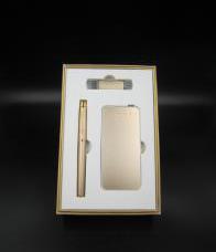 5000毫安土豪金電源+8G手機兩用u盤+商務筆 -1367