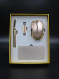 10000毫安電源+無線鼠標+8G手機兩用u盤 +正姿簽字筆  -1367