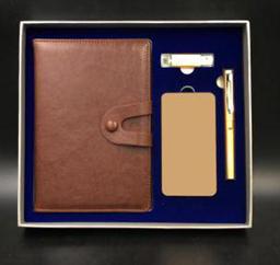 商务笔记本+正姿笔+手机两用U盘+10000毫安电源 -1367