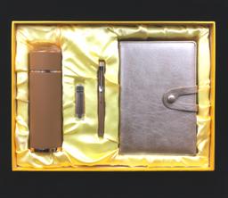 商務筆記本+商務筆+8G手機U盤+商務保溫杯  -1367