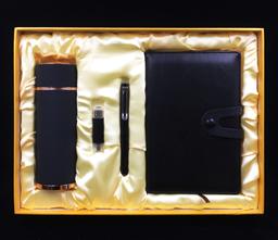 商務u型扣筆記本+商務筆+8G手機U盤+磨砂商務保溫杯+10000毫安移動電源   -1367