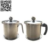 不锈钢滤油杯、滤渣杯、过滤杯壶(Stainless Steel Cup)ZD-KB30