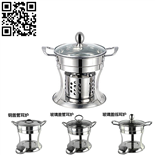 酒精爐火鍋(Stainless Steel Alcohol furnace hot pot)ZD-KCL07