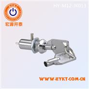 供给M12金属电源锁 安防设备用钥匙开关 电源及挡片双功用电子锁