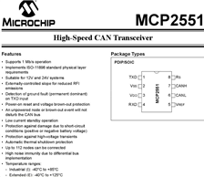 MCP2551I/SN