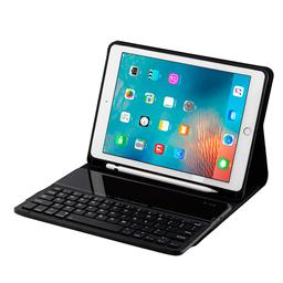 玻璃面板无线蓝牙键盘皮套带笔槽 用于ipad 9.7 FT2068E