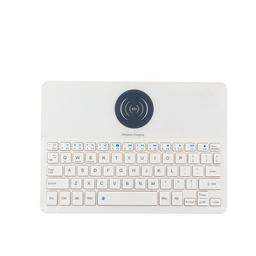 无线蓝牙键盘带QI无线充电 钢化玻璃面键盘 2071A