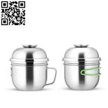 304不銹鋼快餐杯(Stainless steel snack cup)ZD-KCB08