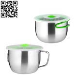 304不銹鋼泡面杯(Stainless steel snack cup)ZD-KCB09