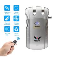 WF-010 WAFU Smart Remote Control Door Lock, Invisible Security Home Door Lock(sliver)