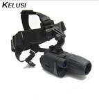 正品科鲁斯Kelusi 3x30头盔/头戴式一代+高清彩色夜视仪望远镜