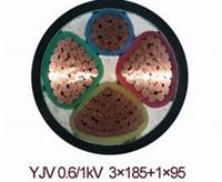 销售YJLV4*95+1*50铝芯电缆