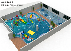 游泳池戏水滑梯小品乐园