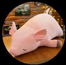软体趴趴猪毛绒玩具