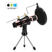 Studio Microphone, ZealSound Condenser Recording & Broadcasting Microphone With Stand Built-in Sound