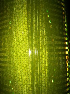 """T-9513艾利钻石级反光膜18""""50y(荧光黄绿)"""
