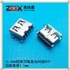 USB母座11.0短�w沈板卷�SMT�N板1.9 �P式�B接器