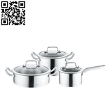 430不锈钢套锅三件套(3-piece Stainless Steel Cookware Set)ZD-TZG126