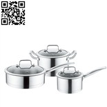 430不锈钢套锅三件套(3-piece Stainless Steel Cookware Set)ZD-TZG127