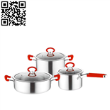 430不锈钢套锅三件套(3-piece Stainless Steel Cookware Set)ZD-TZG128