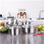 304不锈钢套锅四件套(4-piece Stainless Steel Cookware Set)ZD-TZG129