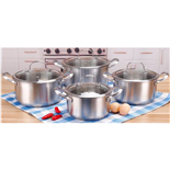 304不銹鋼套鍋四件套(4-piece Stainless Steel Cookware Set)ZD-TZG130