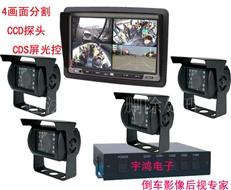4畫面分割倒車后視系統,全方位汽車后視系統,車載后視系統HY-71C14M