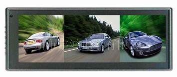 三画面车载显示器,车载后视镜显示器,倒车显示器HY-1021