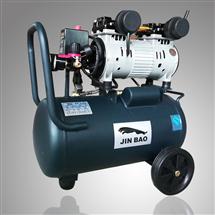 批发JINBAO品牌汽修型空压机无油静音空气压缩机 木工喷漆便携式工业级气泵