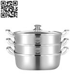 304不銹鋼方形蒸鍋(Stainless steel steamer pot)ZD-ZG305