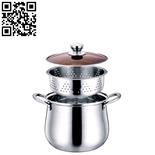 鼓型不锈钢蒸锅(Stainless steel steamer pot)ZD-ZG306