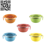 塑钢沥水盆篮2件套(Plastic steel drain basin basket set of 2)ZD-ZYP13