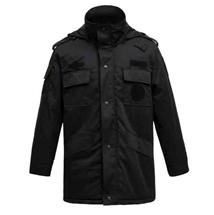 冬季物业巡防斜纹多功能大衣
