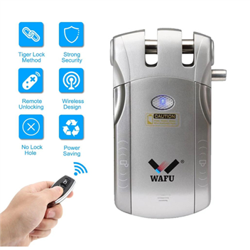 WAFU Hidden Remote Control Lock, Security Remote Lock for Office, Anti-theft Lock for Home WF-010