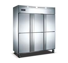 六门单温暗管冷藏冷冻柜