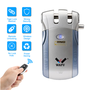 WAFU Wireless Smart Remote Control Lock Invisible Remote Lock with 4 Keys(WF-010)