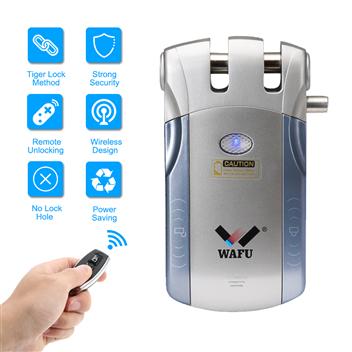 WAFU Wireless Smart Remote Control Lock Invisible Remote Lock with 4 Keys(WF-010)