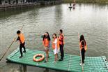 乐湖生态园划竹筏